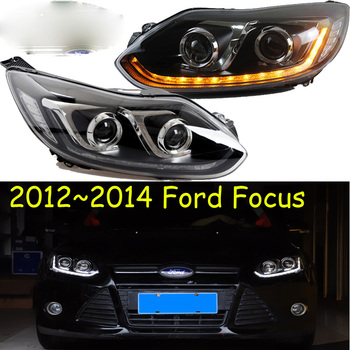 HID,2012~2014,Car Styling for Focus Headlight,LED DRL Fog for Focus head lamp