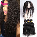 7A Pre Plucked Brazilian 360 Lace Frontal With Bundle Brazilian Deep Wave Curly 360 Lace Frontal Closure With Bundles Human Hair