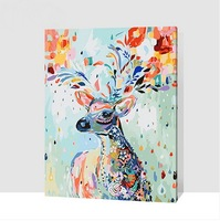 Framed Painting By Numbers Wall Decor Diy Picture Oil Painting On Canvas For Home Decor 4050