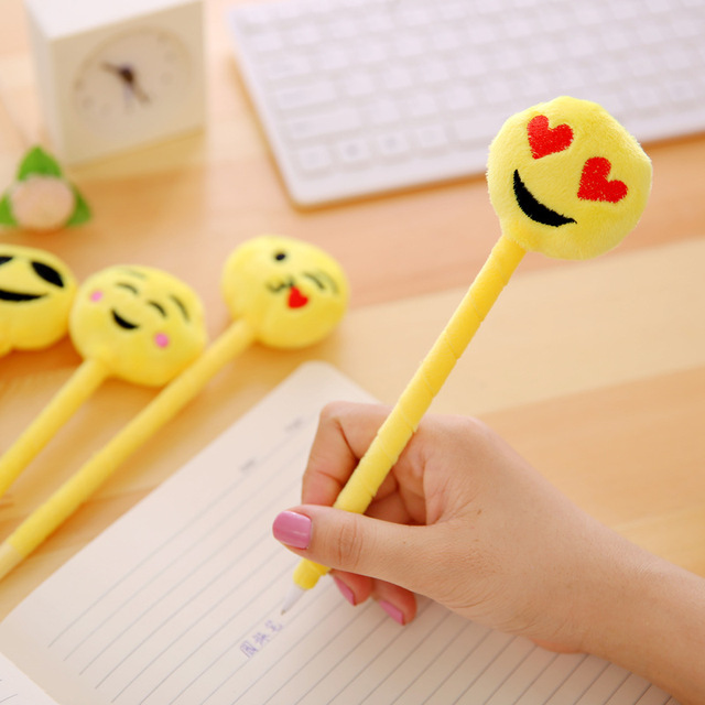 12PCS Funny expression ball Pen Kids happy birthday party supply gift for girl boy party favors souvenirs baby shower decoration