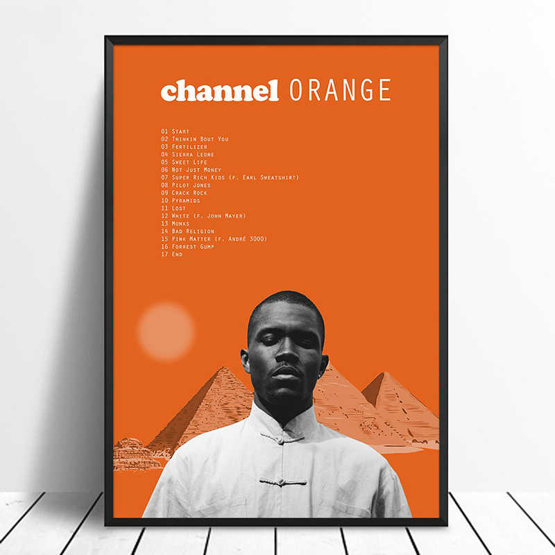 Frank Ocean - Channel Orange Album Pop Music cover Music Star Poster Canvas  Prints Wall Art For Living Room Home Decor