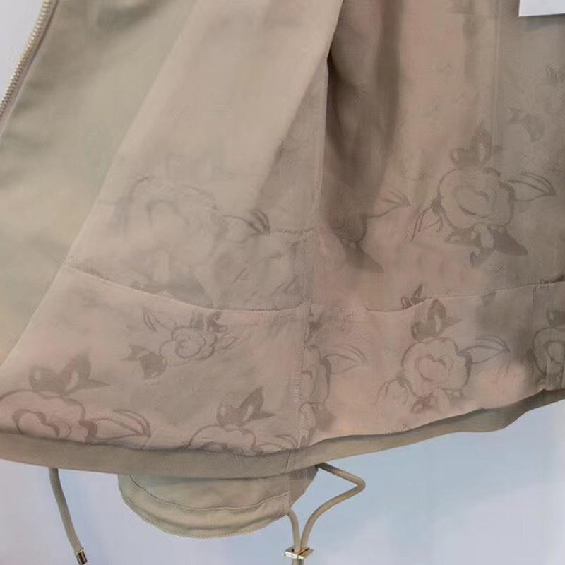 Nouveau 2018 Manches Femmes De Avec Casual Longues Mode Veste Solide Lady Pour Manteau Zipper Poche wU6gqBtnO