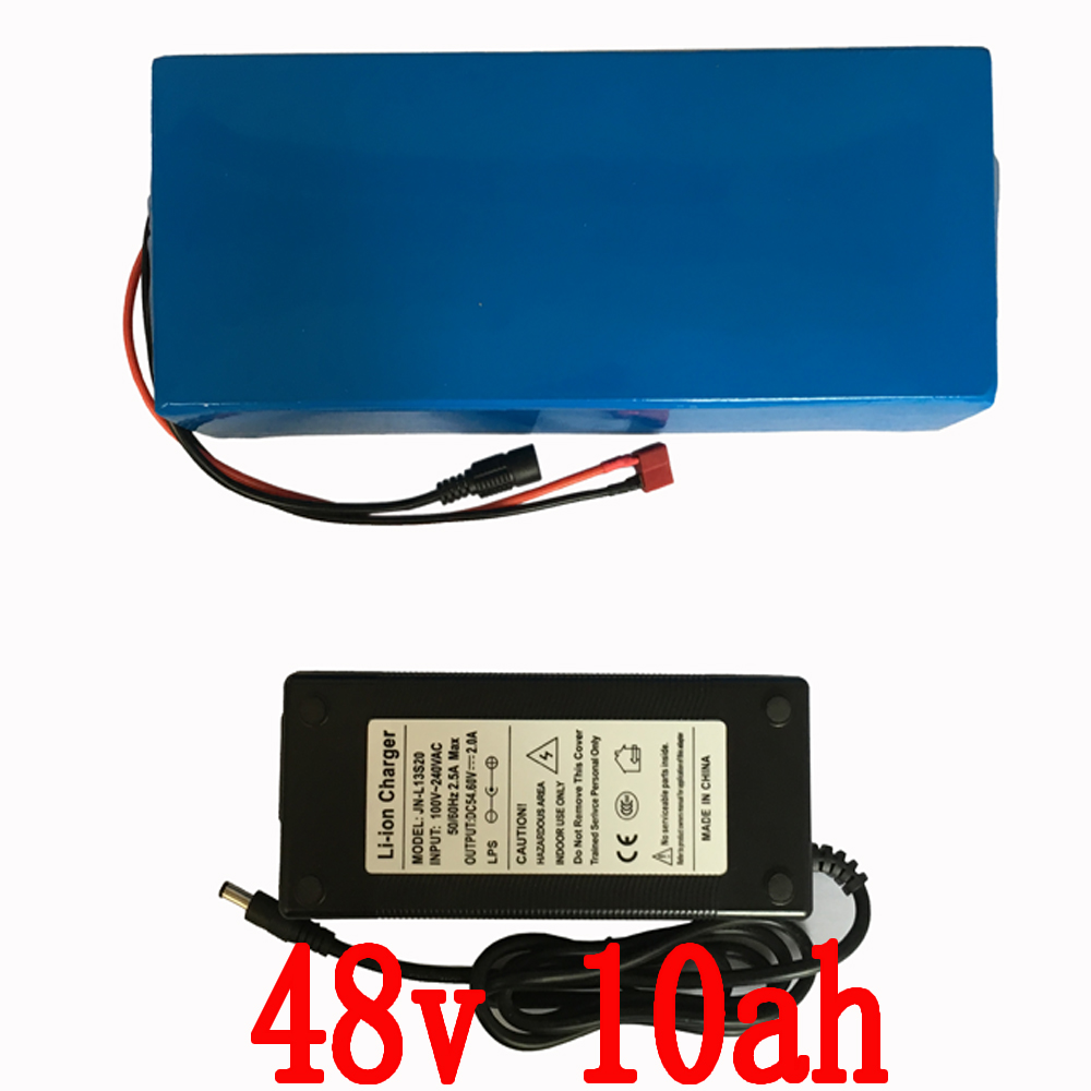 E-bike Battery 48v 10Ah 700W Lithium Battery 48v with 54.6v 2A charger 20A BMS 48v Electric Bike Battery  Free Shipping free shipping 48v 15ah battery pack lithium ion motor bike electric 48v scooters with 30a bms 2a charger