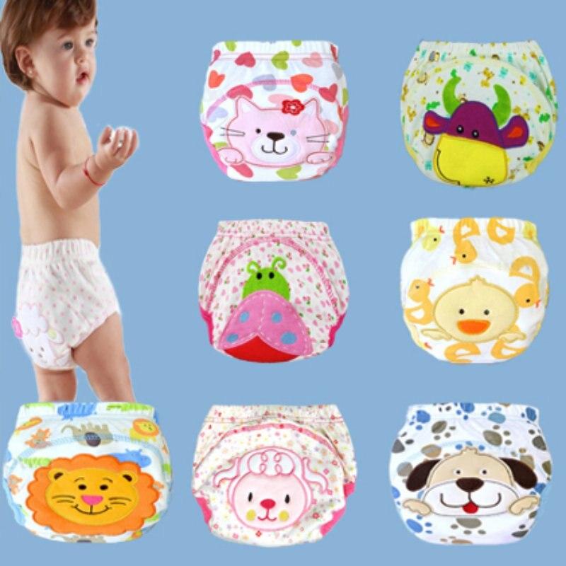 Cartoon Animal Potty Leak-proof Diapers Training Pants Cotton Panties Briefs Newborn Underwear For Baby Boy Girl