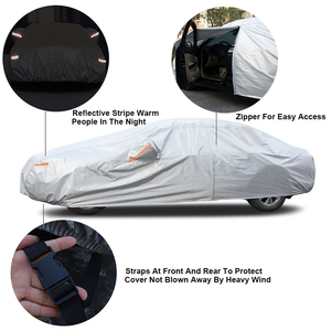 Image 4 - Kayme Multi Layer Full Car Cover Waterproof All Weather With Zipper Cotton, Outdoor Rain Snow Sun uv Protection Fit Sedan Suv