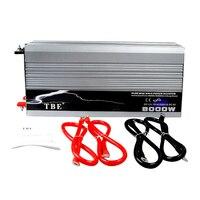 КЭ 8000 Вт Мощность инвертор DC12V 24 В 48 В к AC220V 110 В Авто Чистая синусоида Мощность преобразователь с USB разъем