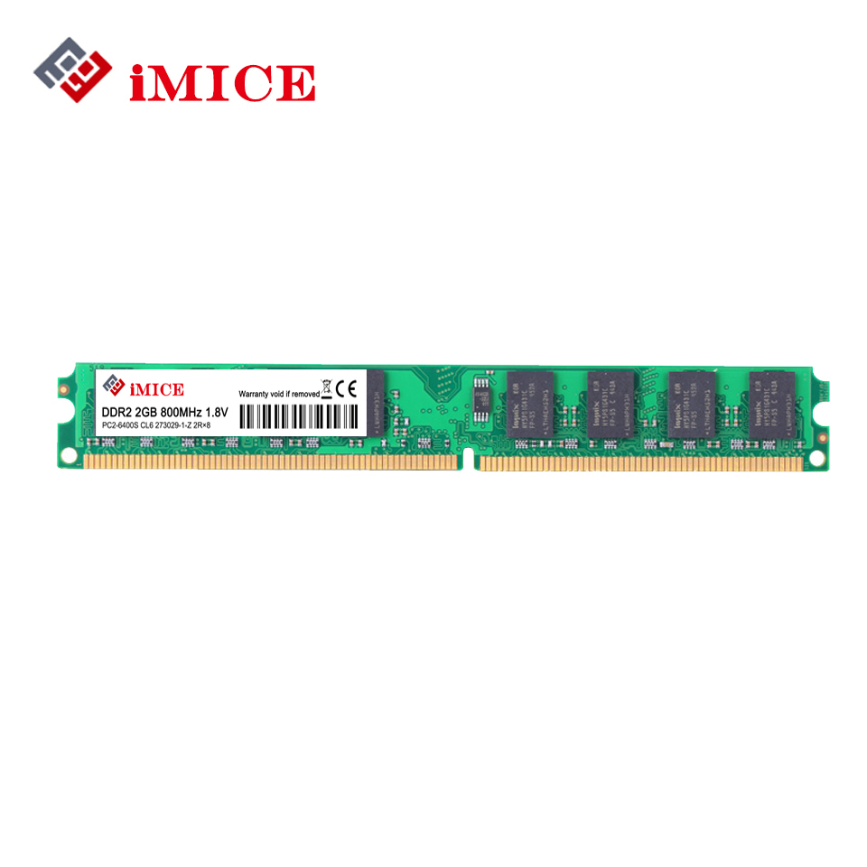 IMICE Desktop PC RAMs DDR2 1G/2 GB 667 MHz PC2-5300s 800 MHz PC2-6400S DIMM Nicht ECC 240-Pin 1,8 V Für Intel Computer Memory Garantie