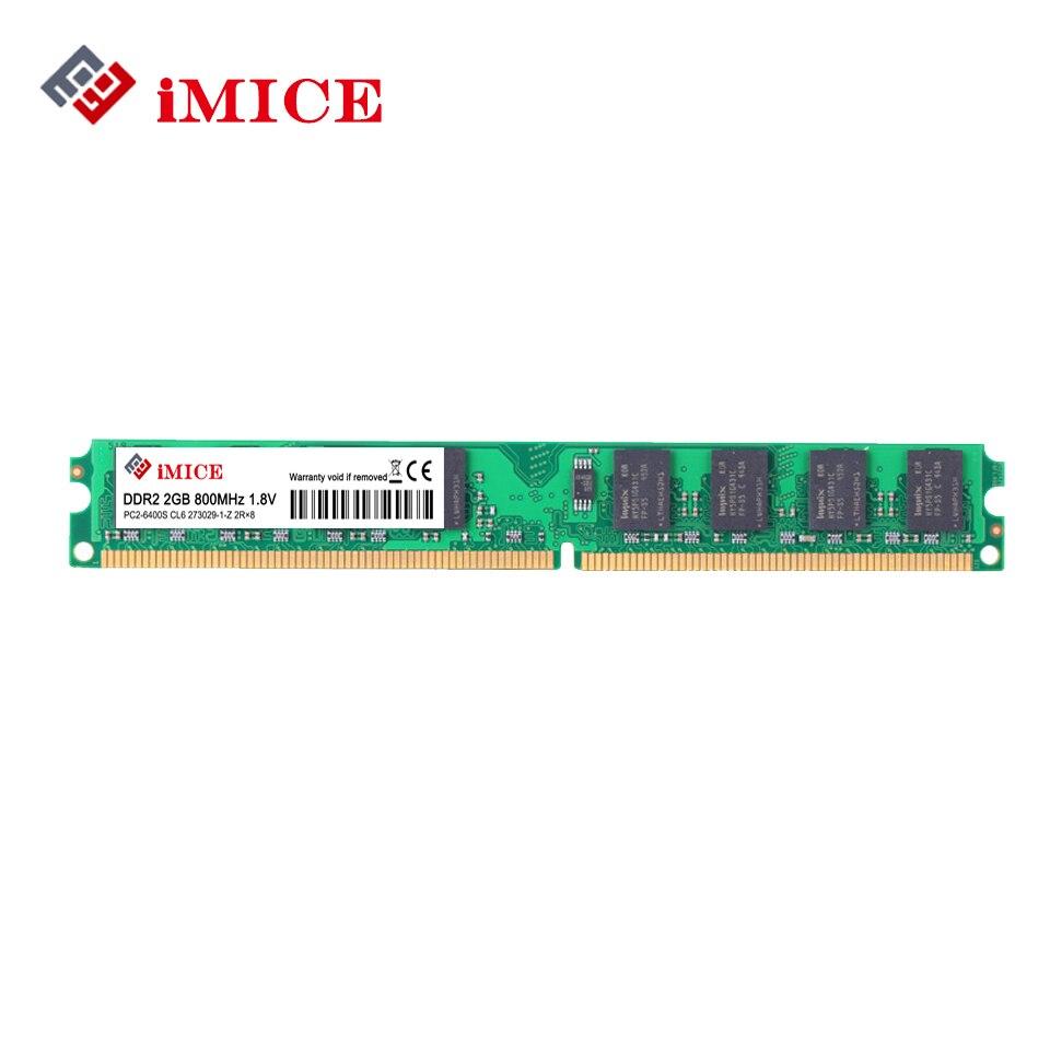 iMICE Desktop PC RAMs DDR2 1G/2GB 667MHz PC2-5300s 800MHz PC2-6400S DIMM Non-ECC 240-Pin 1.8V For Intel Computer Memory Warranty