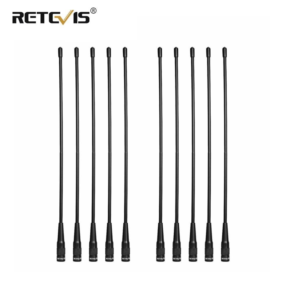 10pcs Wholesale Retevis RHD-771 Antenna SMA-M VHF UHF Walkie Talkie Antenna For Yaesu Retevis RT3S RT3 RT1RT81 For TYT MD-380