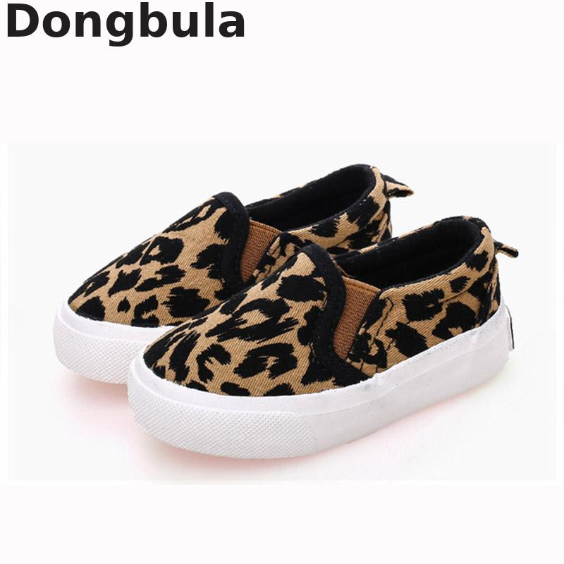 New Children Canvas Shoes For Boys Girls Fashion Leopard Print Comfortable Casual Shoes For Kids Sneakers Student Flat Shoes