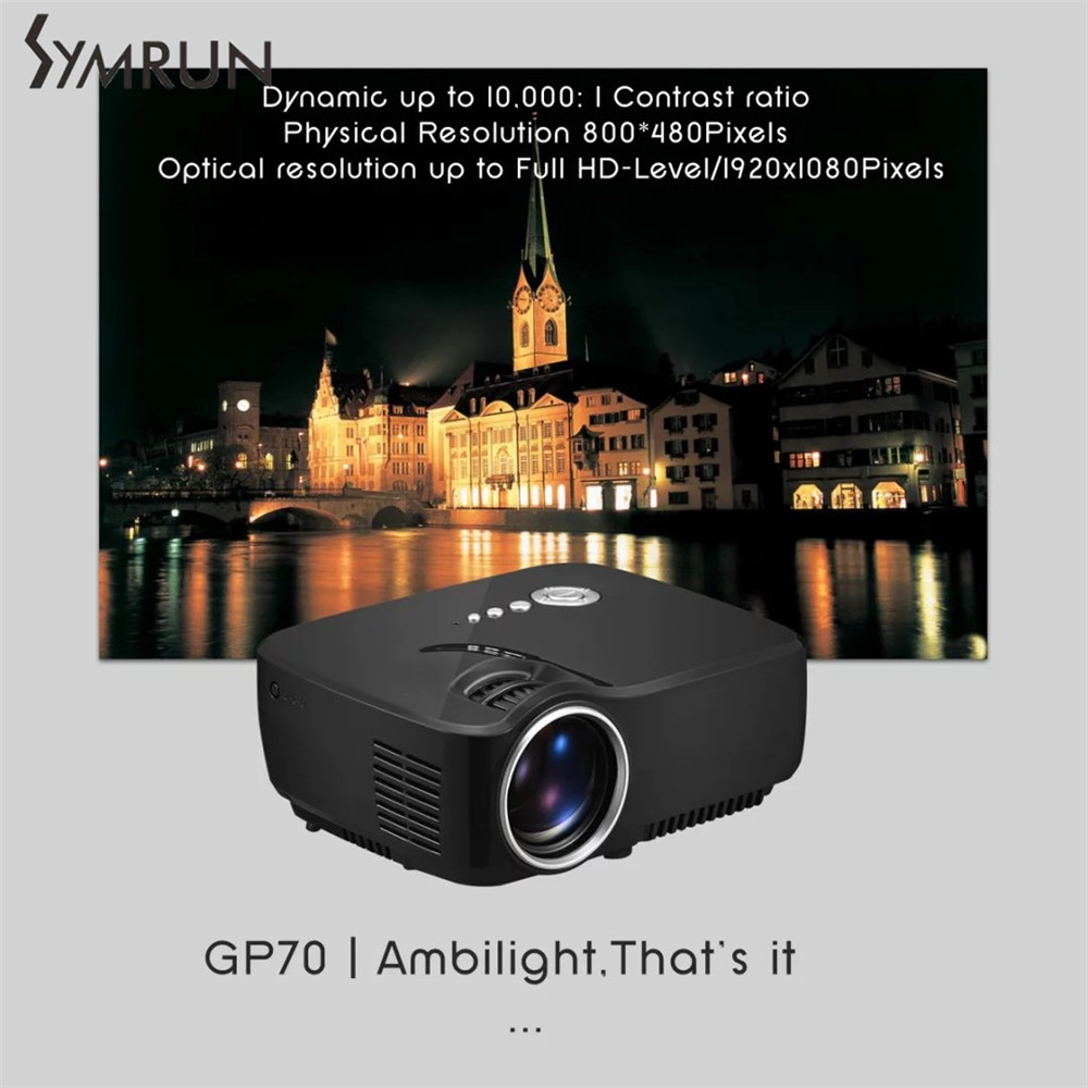 High Power LED Light Source Full HD Projector Video Home Cinema Support 5 1 Stereo Audio