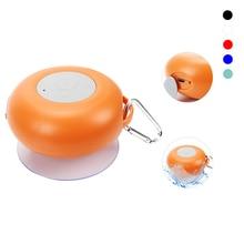 Bluetooth Speaker Mini Handsfree Car Stereo Wireless Speaker Waterproof Suction Cup Speaker With Mic Carabiner Hook For Phone TV