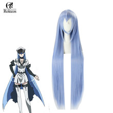 ROLECOS Akame ga KILL Anime Cosplay Headwear Esdeath Cosplay Synthetic Hair Esdese Long Blue 100cm Hair(China)