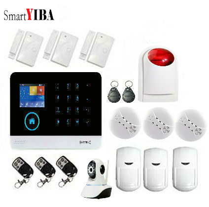 SmartYIBA 3G SIM Wifi  Alarm System for Smart House Security App Remote Recording GPRS Sensor Detector Signal Residential Alarm SmartYIBA 3G SIM Wifi  Alarm System for Smart House Security App Remote Recording GPRS Sensor Detector Signal Residential Alarm
