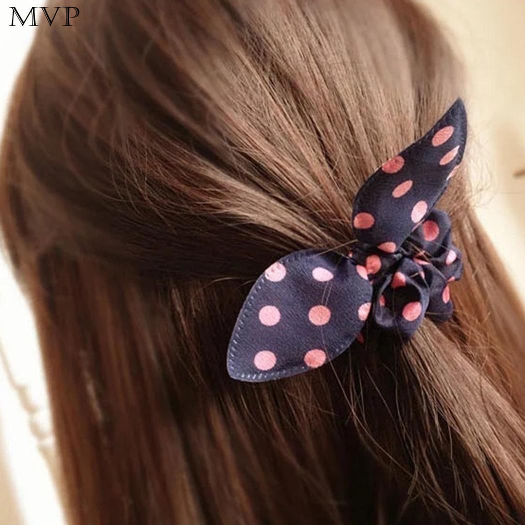 Accessories Girls Hair Women Rabbit Ears Hair Ring Elastic Bunny Ear Hair Holder Tie