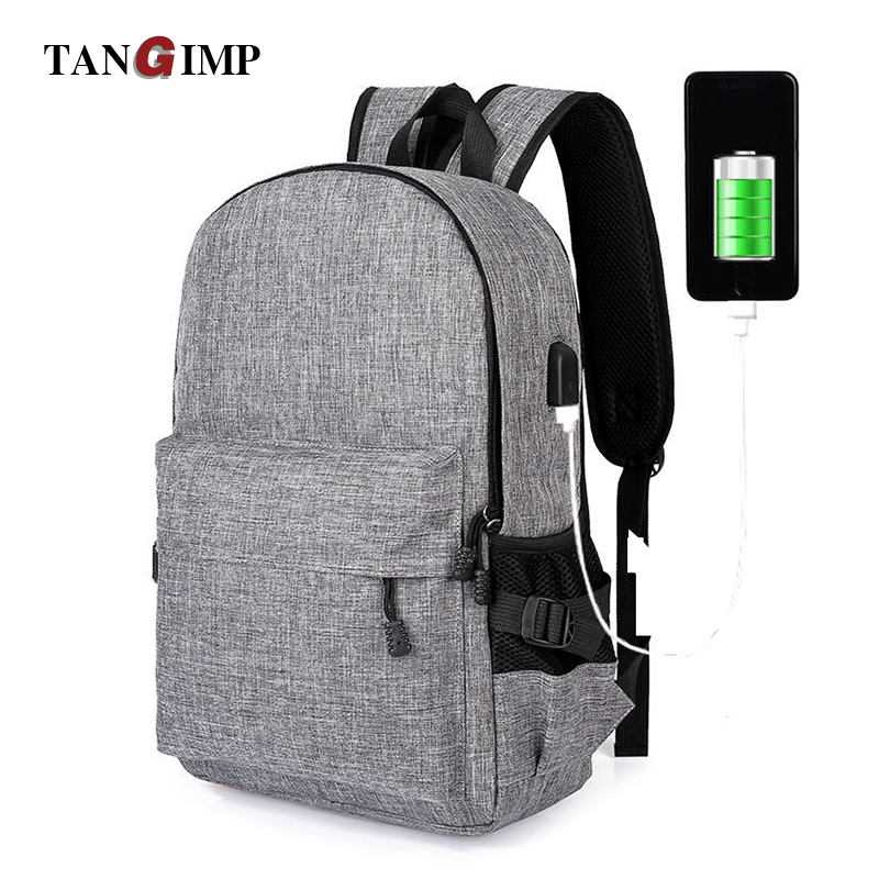 TANGIMP Usb Recharging Anti-thief Backpack Unisex Design Daypack Book Bags for School Backpack Casual Bag Rucksack New Arrivals the book thief