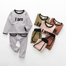 New arrive 2pcs spring autumn children clothing set baby girls sports suit casual costume long sleeves suits for boys hot sale