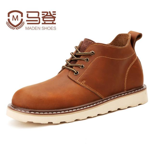 Primavera otoño invierno hombres de la moda masculina Martin botas de cuero de viento Británico de los hombres de alta calidad de gran volumen de trabajo de los hombres botas