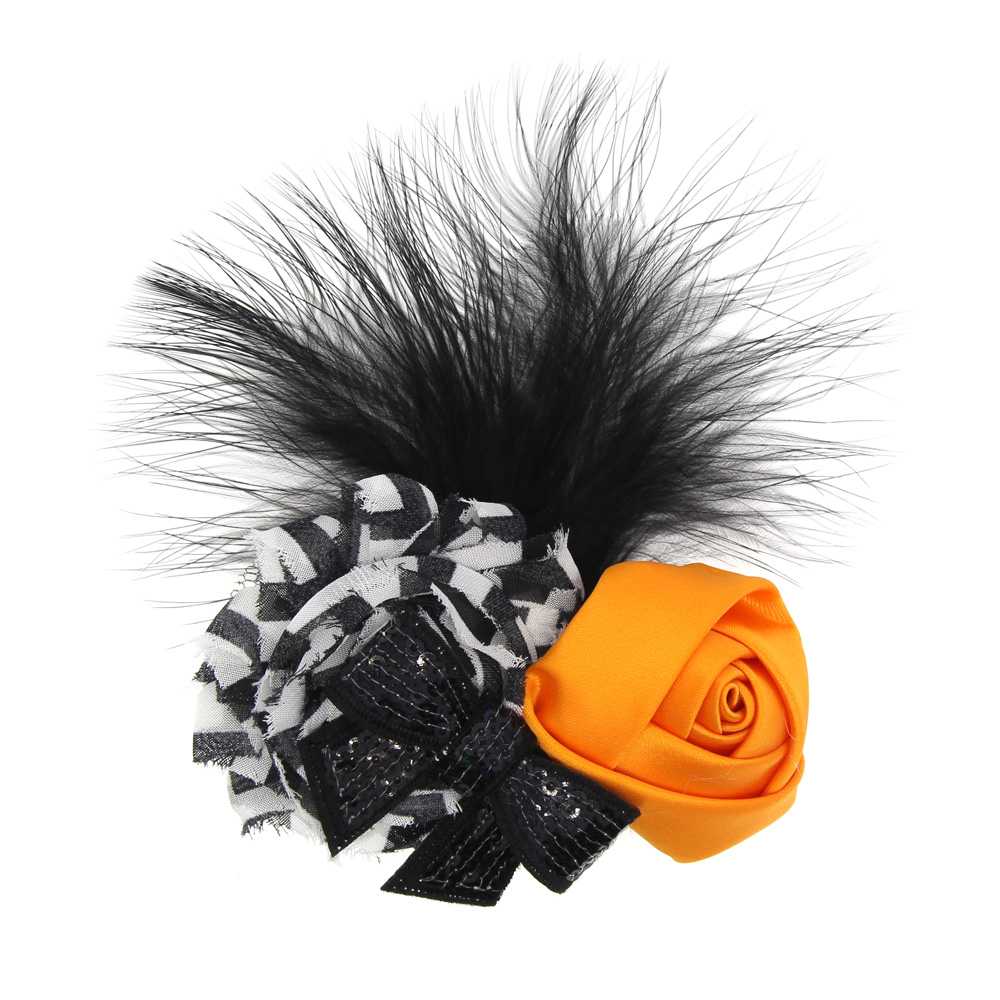 2018 Special Holiday Halloween Gift Children Feather Hairpin Headdress Halloween Holiday Accessories Kids Hairgrips