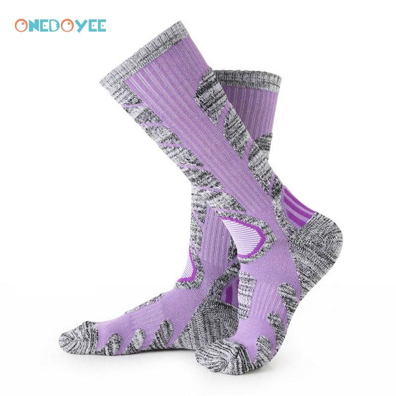 Onedoyee Для женщин Термальность лыжный Носки для девочек Велоспорт Носки катания на лыжах Гетры для девочек наличии спорт Сноуборд Восхождени...