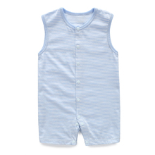 YiErYing Newborns Jumpsuits Summer Sleeveless Boy Girl 100% Cotton Stripe Sleep & Play Clothes Baby Rompers