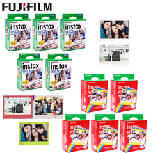 10-100 Sheets Fujifilm Instax Wide White edge + Rainbow Black Films for Fuji Instant Photo paper Camera 300/200/210/100/500AF