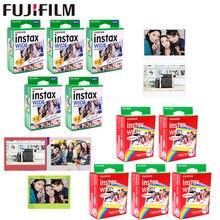 Papel para fujifilm instax 10-100 folhas, largura branca + arco-íris + filmes, para câmera fotográfica instantânea fuji 300/200/210/100/500af