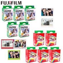 10 100 arkuszy Fujifilm Instax szeroka biała krawędź + tęcza + czarne filmy do aparatu fotograficznego Fuji Instant papier fotograficzny 300/200/210/100/500AF