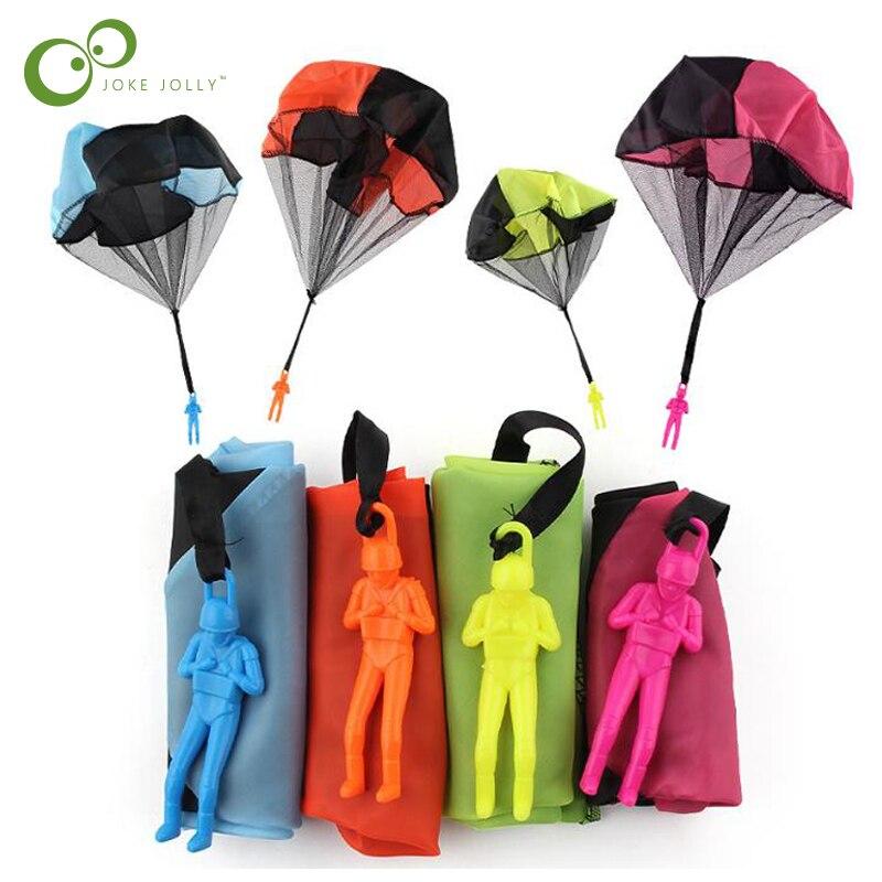 2 pièces Mini enfants Parachute main lancer Parachute jouet jouer en plein air jeux enfants éducatifs Parachute avec Figure soldat GYH