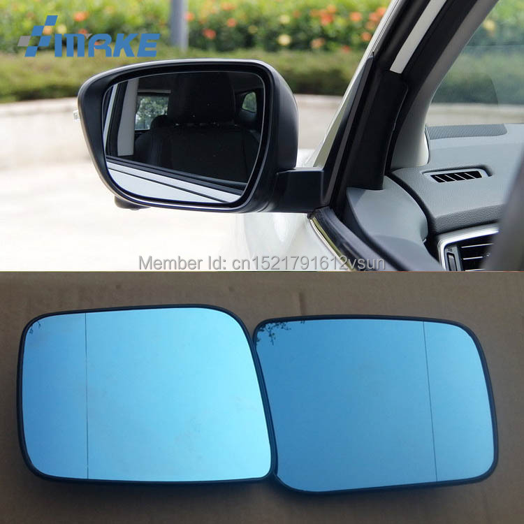 smRKE 2Pcs For Nissan Qashqai Rearview Mirror Blue Glasses Wide Angle Led Turn Signals light Power Heating