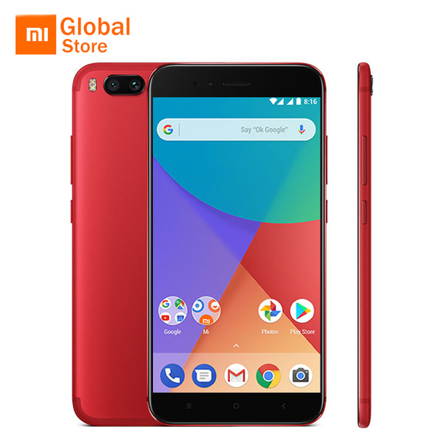"""Глобальная версия Сяо Mi A1 Mi A1 4 ГБ 64 ГБ Встроенная память мобильного телефона Snapdragon 625 Octa Core 5.5 """"B20 двойной 12.0mp Android ОДИН FDD LTE 4 г"""