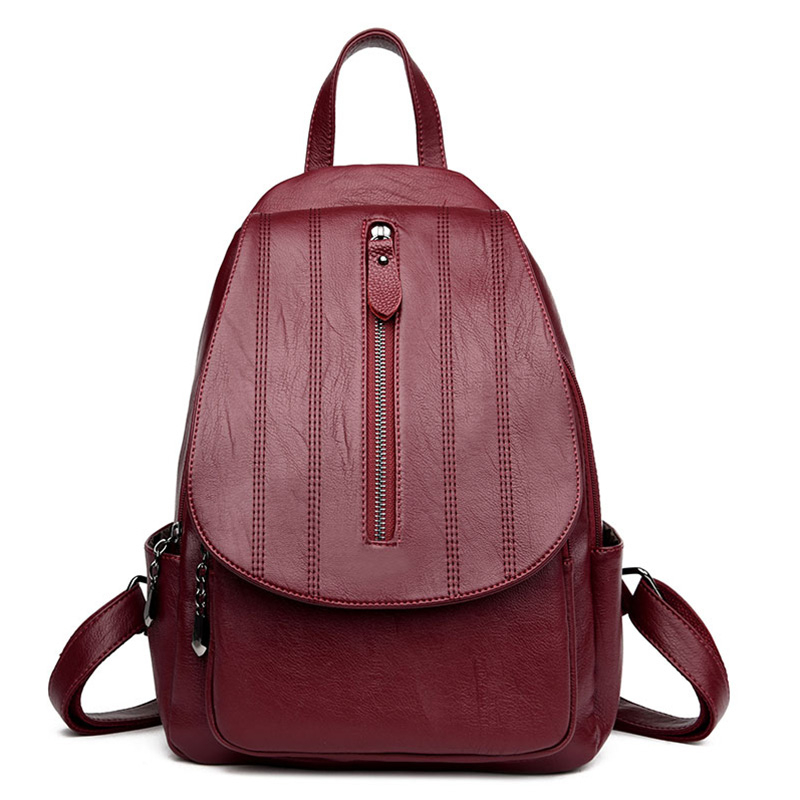 2017 New Casual Women Backpack Girls PU Leather Preppy Style School Backpacks For Teenage Women Small