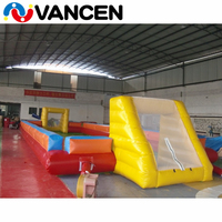 Team game inflatable football field court portable inflatable bouncy soccer court PVC inflatable soccer field for playground