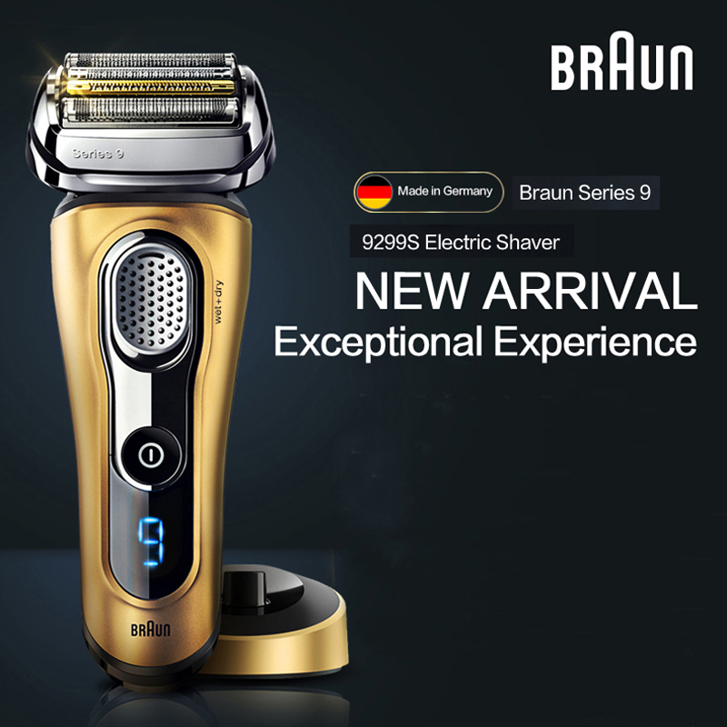 Braun Electric Shaver 9299S For Men Rechargeable Safety Razor Series 9 Reciprocating Shaving Machine Four Heads Straight Razor braun series 3 electric shaver 3080s electric razor blades shaving machine rechargeable electric shaver for men washable
