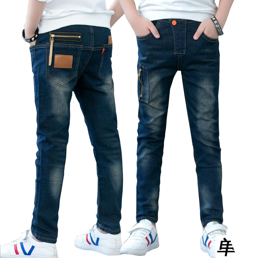 Children clothes boys long style cotton jeans 4-14 Y teenage Autumn spring denim trousers big boy trousers casual pants outwear new brand kids jeans boys casual winter thicken long jeans pants baby boy jeans cotton warm denim trousers boys fashion clothes
