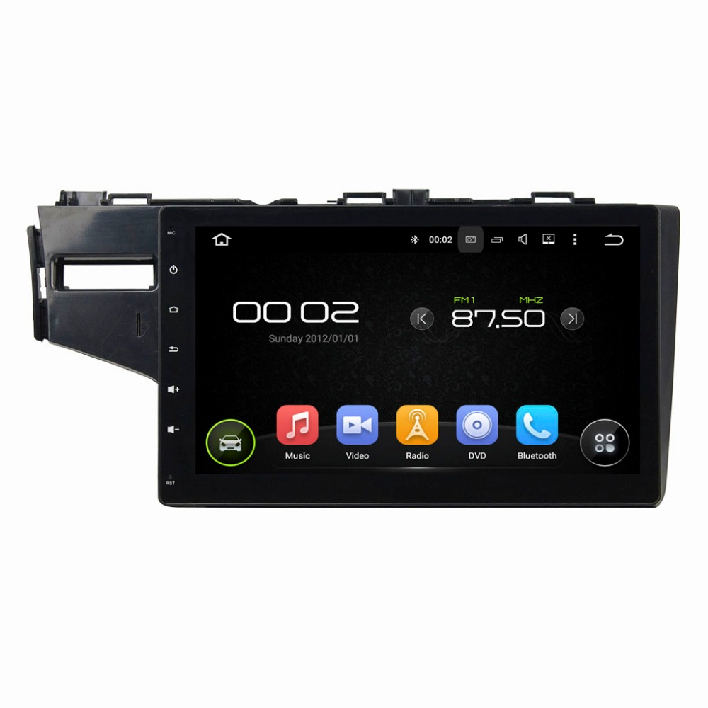 1024*600 Quad Core Android 5.1.1 Car Radio GPS for Honda Fit 2014 2015 Left Driving with Wifi BT USB Mirror link without Canbus