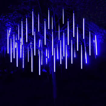 Thrisdar 30 CM 50 CM Meteor Duş Yağmur Tüp LED Dize işıklar 8 Tüp Düşen Yağmur Damlası Icicle Noel Düğün peri Işık