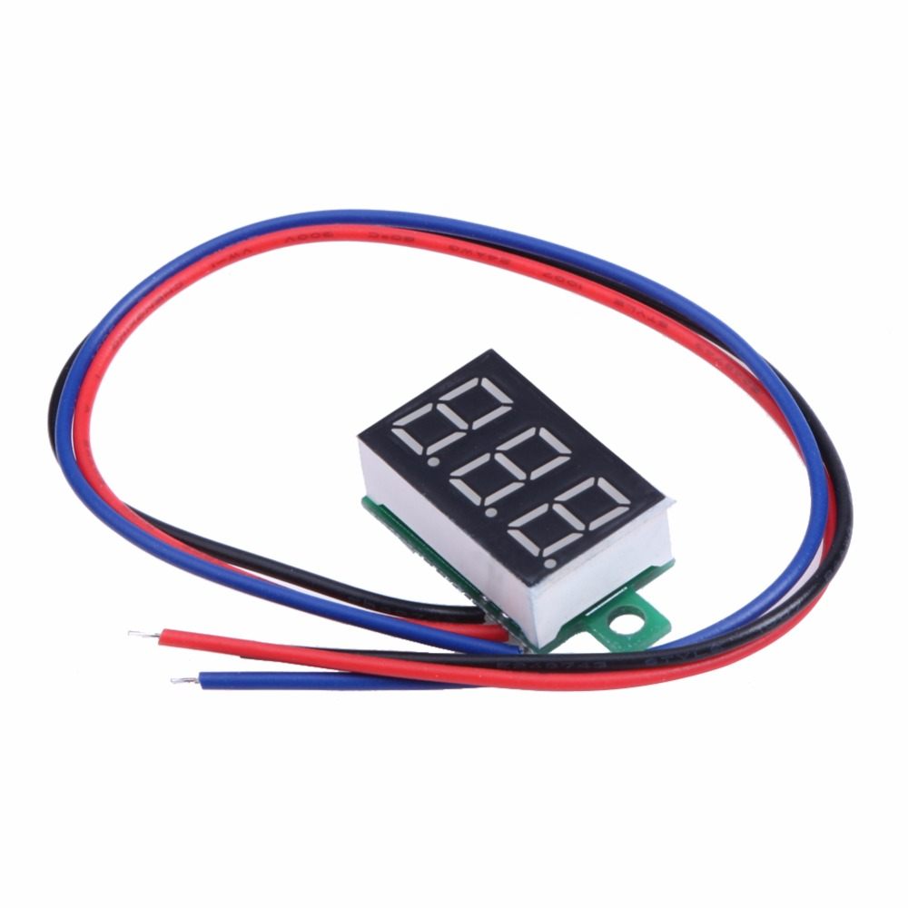 Hot Sale 036inch Lcd Three Wire 5 30v Led Small Red Digital Dc Voltmeters Voltmeter Panel Meter Power Supply Best Price
