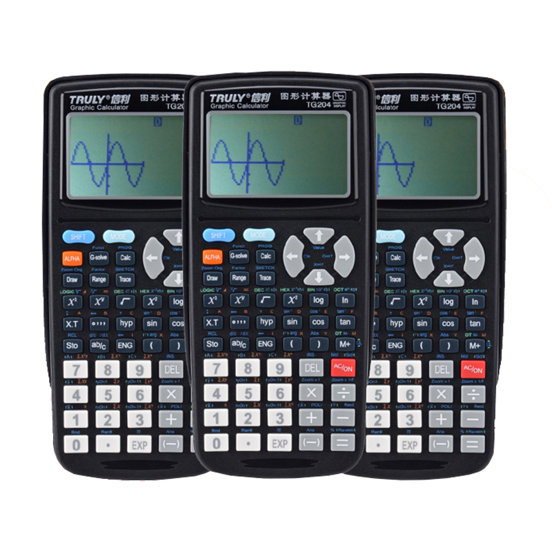 Truly TG204 scientific graphics programming calculator SAT exam drawing battery computer image