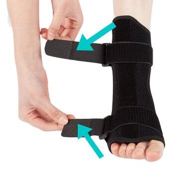 Zapalenie powięzi podeszwy dorsalna noc i dzień szyna orteza na stopę stabilizator regulowany stopa Orthotic Brace wsparcie ulgę w bólu