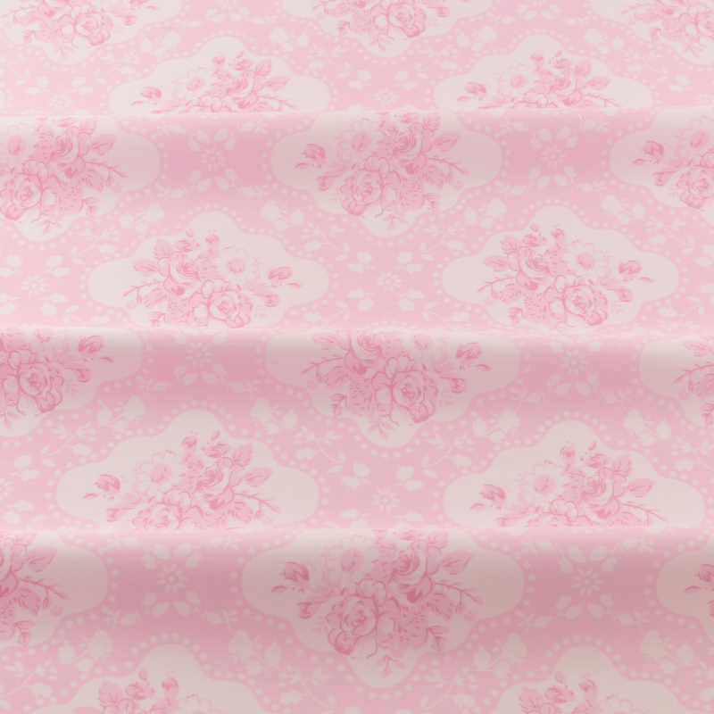 <font><b>News</b></font> Cotton Fabric Pink Printed Flowers Designs Quilting Patchwork Home Textile Twill Bedding Scrapbooking Sewing Tecido Tela image