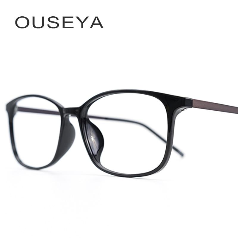38c199034c TR90 Men Glasses Frame Fashion Optical Glasses Vintage Optical Classic  Clear lens Transparent Myopia Eyeglasses