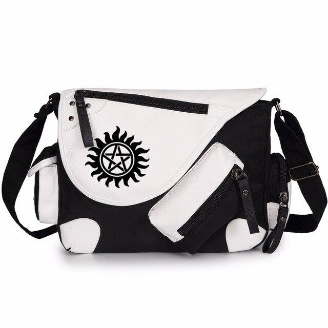 Wishot Supernatural Spn Shoulder Bag Messenger Agers Men Women S Student Travel School Laptop Bags