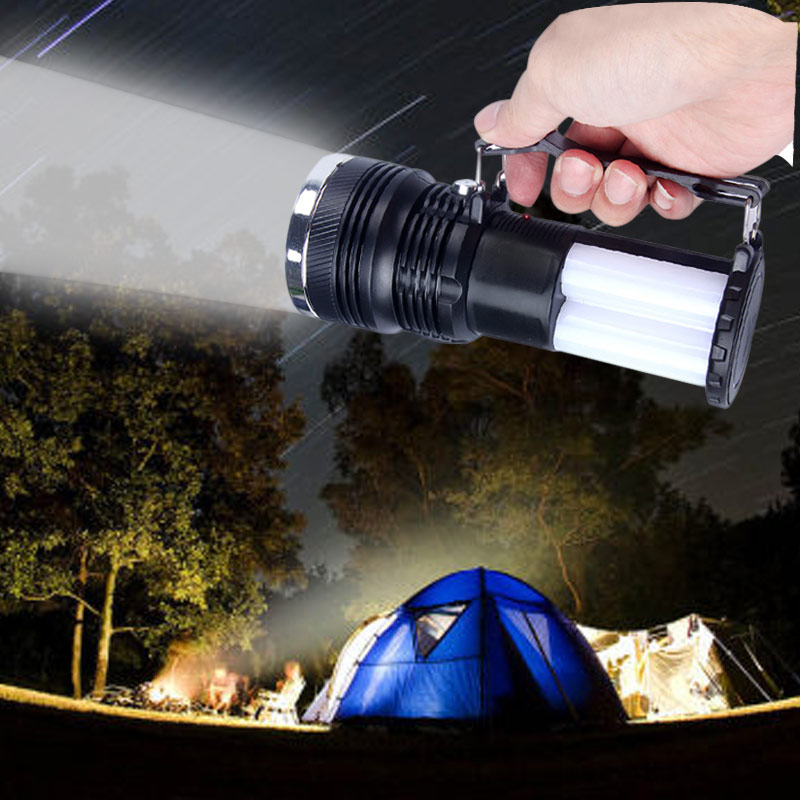 цена на Solar Power Rechargeable Battery LED Flashlight Outdoor Camping Tent Light Lantern Lamp WWO66