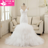 Реальное изображение Винтаж свадебное платье 2018 Свадебные платья Vestido De Noiva De Renda Sereia Alibaba Китай романтический W8934