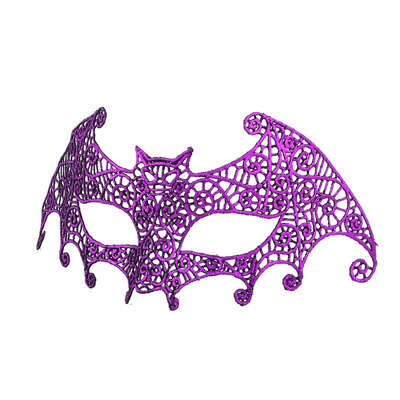 Фиксированная форма, Дамская Сексуальная Маскарадная маска из кружева для карнавала, Хэллоуина, выпускного вечера, Вечерние Маски, фиолетовые, горячее тиснение#35 - Цвет: PM017TZ