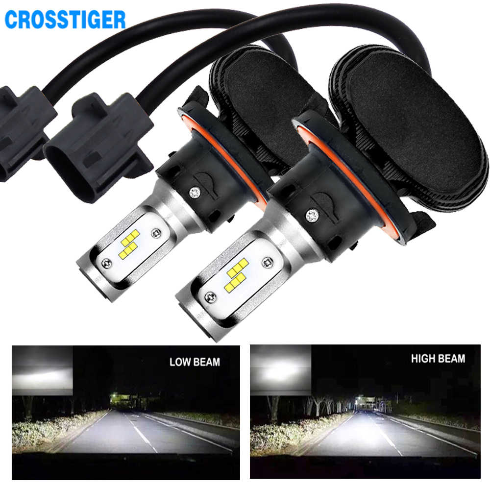 2Pcs 8000LM Led Headlight Bulbs H4 LED H7 H1 H3 H11 HB3 HB4 880 H27 Auto Headlamp Bulbs 12V 50W Mini Fog Light Headlamps Kit