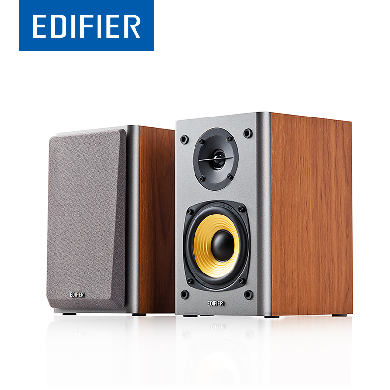EDIFIER R1000T4 Bookshelf Speaker 2.0 Home Theater Powerful Sound Bookshelf Speaker With 4 Inch Bass Driver Bass Speakers  цена и фото