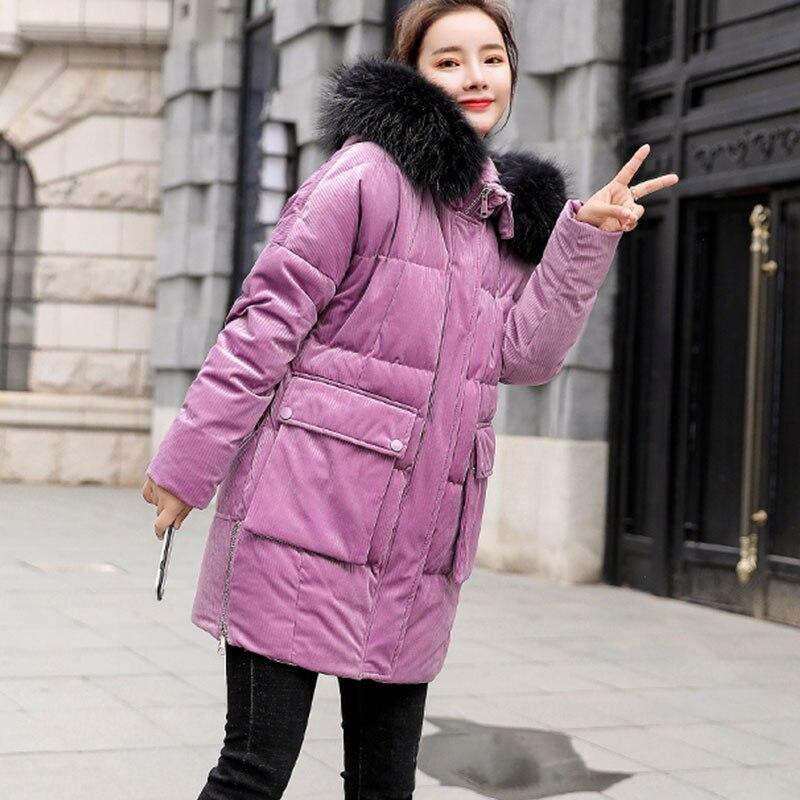 Chaud Manteau pink 2019 02 pink Winte Épaississent Fur De La Fur Parka Blue Raton Coton Femmes Laveur blue Fourrure Veste Haute Qualité Hiver Collier Natural Naturel Vestes Plus Taille OZiuPkTXw