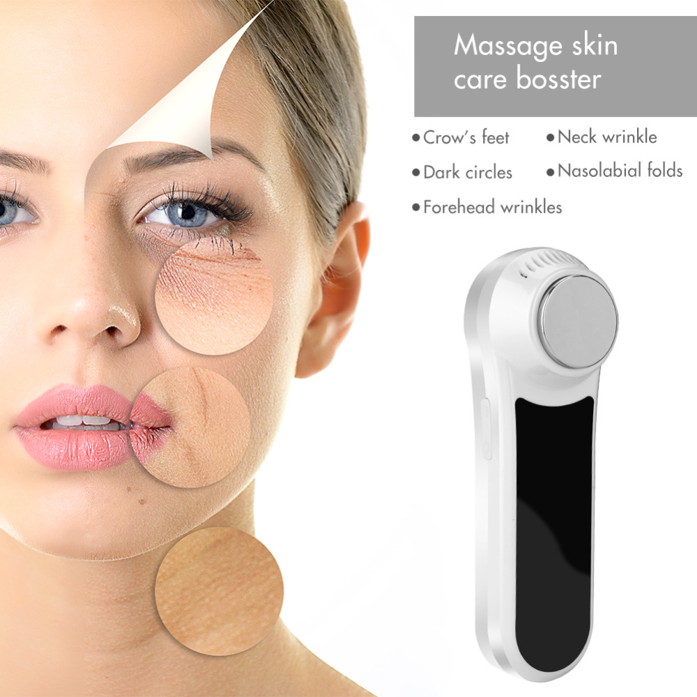 цена на Ultrasonic Hot Cold Hammer Face Lifting Facial Massager Skin Care Face Lifting Wrinkle Acne Removal Beauty Skin Care Machine